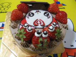 娘の5歳の誕生日を祝うために「ケーキ工房 あるもに」で購入したスイートプリキュア!のハミィの絵入りの誕生日ケーキ